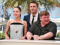 Vladimir Vdovichenkov, Yelena Lyadova, Roman Madyanov at the photo call for the film Leviathan at the 67th Cannes Film Festival, Friday 23rd May 2014, Cannes, France.