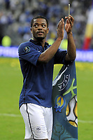 FOOTBALL - UEFA EURO 2012 - QUALIFYING - GROUP D - FRANCE v BOSNIA - 11/10/2011 - PHOTO JEAN MARIE HERVIO / DPPI - JOY PATRICE EVRA (FRA) AT THE END OF THE MATCH