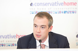James Wharton MP, Boris Johnson's campaign manager and part of the team responsible for getting Boris Johnson elected as the new leader of the Conservative party and Prime Minister 25th June 2019.<br /> <br /> <br /> pictured speaking at the ConservativeHome and The Bill and Melinda Gates Foundation fringe meeting <br />  4th October, 2016<br /> subject: Is foreign aid in the national interest?<br /> <br /> <br /> Speakers:<br /> James Wharton MP<br /> The Rt Hon Andrew Mitchell <br /> <br /> Photograph by Elliott Franks