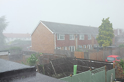 June 2, 2017 - London, England, United Kingdom - A violent storm makes it way over south London, UK, on 2 June 2017. (Credit Image: © Jay Shaw Baker/NurPhoto via ZUMA Press)