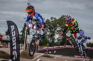 #280 (MONTENEGRO Cesar) ARG, #143 (TORRES Exequiel) ARG and#90 (MARINO CARLOMAGNO Ramiro) ARG at the 2016 UCI BMX Supercross World Cup in Santiago del Estero, Argentina