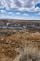 Eastern overlook of the wetlands in Arapaho National Wildlife Refuge. Image three of six taken with a Nikon D3 camera and 14-24 mm f/2.8 lens (ISO 200, 23 mm, f/16, 1/200 sec). Panorama composed using Auto Pano Giga Pro.