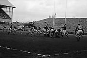 Irish Rugby Football Union, Ireland v Wales, Five Nations, Landsdowne Road, Dublin, Ireland, Saturday 12th March, 1966,.12.3.1966, 3.12.1966,..Referee-  R P Burrell, Scottish Rugby Union, ..Score- Ireland 9 - 6 Wales, ..Irish Team, ..T J Kiernan,  Wearing number 15 Irish jersey, Full Back, Cork Constitution Rugby Football Club, Cork, Ireland,..A T A Duggan, Wearing number 14 Irish jersey, Right Wing, Landsdowne Rugby Football Club, Dublin, Ireland,..F P K Bresnihan, Wearing number 13 Irish jersey, Right Centre, University College Dublin Rugby Football Club, Dublin, Ireland, ..J C Walsh,  Wearing number 12 Irish jersey, Left Centre, Sundays Well Rugby Football Club, Cork, Ireland, ..P J McGrath,  Wearing number 11 Irish jersey, Left Wing, University college Cork Rugby Football Club, Cork, Ireland,  ..C M H Gibson, Wearing number 10 Irish jersey, Stand Off, Cambridge University Rugby Football Club, Cambridge, England, and, N.I.F.C, Rugby Football Club, Belfast, Northern Ireland, ..R M Young, Wearing number 9 Irish jersey, Scrum Half, Queens University Rugby Football Club, Belfast, Northern Ireland,..R A Lamont, Wearing number 8 Irish jersey, Forward, Instonians Rugby Football Club, Belfast, Northern Ireland, ..M G Doyle, Wearing number 7 Irish jersey, Forward, Cambridge University Rugby Football Club, Cambridge, England,..N Murphy, Wearing number 6 Irish jersey, Forward, Cork Constitution Rugby Football Club, Cork, Ireland,..W A Mulcahy, Wearing number 5 Irish jersey, Forward, Bective Rangers Rugby Football Club, Dublin, Ireland,  ..W J McBride, Wearing number 4 Irish jersey, Forward, Ballymena Rugby Football Club, Antrim, Northern Ireland,..R J McLoughlin, Wearing number 3 Irish jersey, Forward, Gosforth Rugby Football Club, Newcastle, England, ..K W Kennedy, Wearing number 2 Irish jersey, Forward,  C I Y M S Rugby Football Club, Belfast, Northern Ireland, ..S MacHale, Wearing number 1 Irish jersey, Forward, Landsdowne Rugby Football Club, Dublin, Ireland, ..Welsh Te