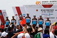 Team of AG2R - La Mondiale during the Tour of Guangxi 2018, stage 1, Beihai - Beihai 107,4 km on October 16, 2018 in Beihai, China - Photo Luca Bettini / BettiniPhoto / ProSportsImages / DPPI