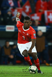 November 12, 2017 - Basel, Switzerland - Breel Embolo of Switzerland  during the FIFA 2018 World Cup Qualifier Play-Off: Second Leg between Switzerland and Northern Ireland at St. Jakob-Park on November 12, 2017 in Basel, Basel-Stadt. (Credit Image: © Matteo Ciambelli/NurPhoto via ZUMA Press)