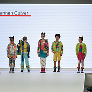 Designer Hannah Guiver showcases it lastest collection at the Graduate Fashion Week 2018, 4 June 4 2018 at Truman Brewery, London, UK.