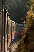 On board Kalka Shimla Railway, often called Toy train, Shimla, India