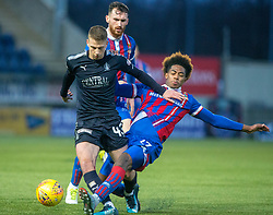 Falkirk's Andrew Nelson and Inverness Caledonian Thistle's Collin Seedorf.  Falkirk 3 v 1 Inverness Caledonian Thistle, Scottish Championship game played 27/1/2018 at The Falkirk Stadium.