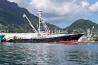 Tuna Boats docked in Seychelles