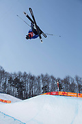 Alexander Glavatsky-Yeadon, Great Britain, during the mens skiing halfpipe Qualification at the Pyeongchang 2018 Winter Olympics on February 20th 2018, at the Phoenix Snow Park in Pyeongchang-gun, South Korea.