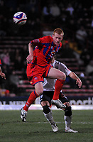 Photo: Tony Oudot/Sportsbeat Images.<br /> Crystal Palace v West Bromwich Albion. Coca Cola Championship. 01/12/2007.<br /> Ben Watson of Crystal Palace clears the ball