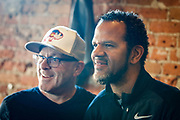 SHOT 12/10/17 11:36:25 AM - Former Buffalo Bills wide receiver and Hall of Fame player Andre Reed signs autographs and meets with fans at LoDo's Bar and Grill in Denver, Co. as the Buffalo Bills played the Indianapolis Colts that Sunday. Reed played wide receiver in the National Football League for 16 seasons, 15 with the Buffalo Bills and one with the Washington Redskins. (Photo by Marc Piscotty / © 2017)
