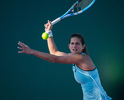 March 22, 2018 - Miami, Florida, United States - Julia Georges, from Germany, playing in court 8 of the Miami Open against Carina Witthoeft, also from Germany. Witthoeft could finally take the match in three sets, defeating Georges 7-6(2), 4-6, 6-4 (Credit Image: © Manuel Mazzanti/NurPhoto via ZUMA Press)