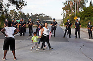 The 10 freeway was briefly shut down by protesters.<br /> Protesters march through out South Los Angeles in response to the not guilty verdicts in the Trayvon Martin verdict in Florida.