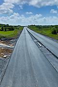 New road developed with the help of EU funds near Ennis in County Clare, West of Ireland