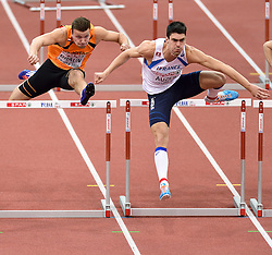 08-03-2015 CZE: European Athletics Indoor Championships, Prague<br /> Pieter Braun NED, Bastien Auzeil FRA