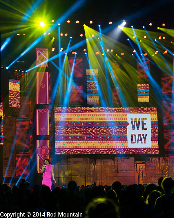 Scene as captured at Rogers Arena during We Day Vancouver 2014. We Day is about youth coming together to make a difference. We Day, Free The Children, Me to We and We Act make up the global platform for social change that began with brothers Craig and Marc Kielburger. Photo: © 2014 Rod Mountain