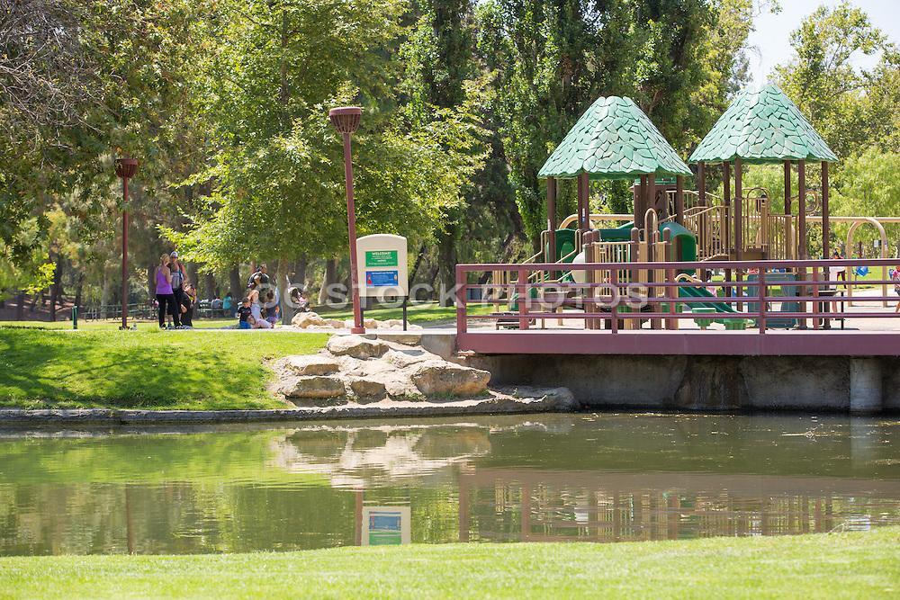 Playground Area at Ralph B. Clark Regional Park in Buena Park