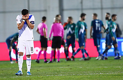 Tasos Bakasetas of Greece reacts after the football match between National teams of Greece and Slovenia in Final tournament of Group Stage of UEFA Nations League 2020, on November 18, 2020 in Georgios Kamaras Stadium, Athens, Greece. Photo by MATTHAIOS YORGOS / INTIME SPORTS / SPORTIDA