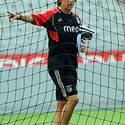 Benfica's head coah Jorge JESUS during their session training before UEFA Champions League third qualifying round, second leg, soccer match Trabzonspor at the Ataturk Olimpiyat Stadium at İstanbul Turkey on Tuesday, 02 August 2011. Photo by TURKPIX