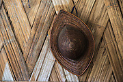 Adi Gallong cane hat<br /> Adi Gallong Tribe<br /> Arunachal Pradesh<br /> North East India