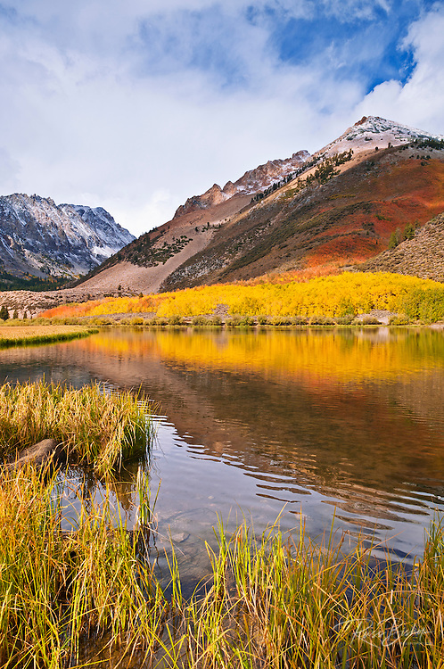 Fall color and early snow at North Lake, Inyo National Forest, Sierra Nevada Mountains, California USA