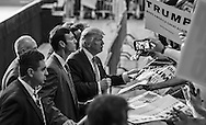 Baton Rouge, LA, Republican presidential candidate Donald Trump at a  campaign rally mixing it up with his fans after his speach ened.