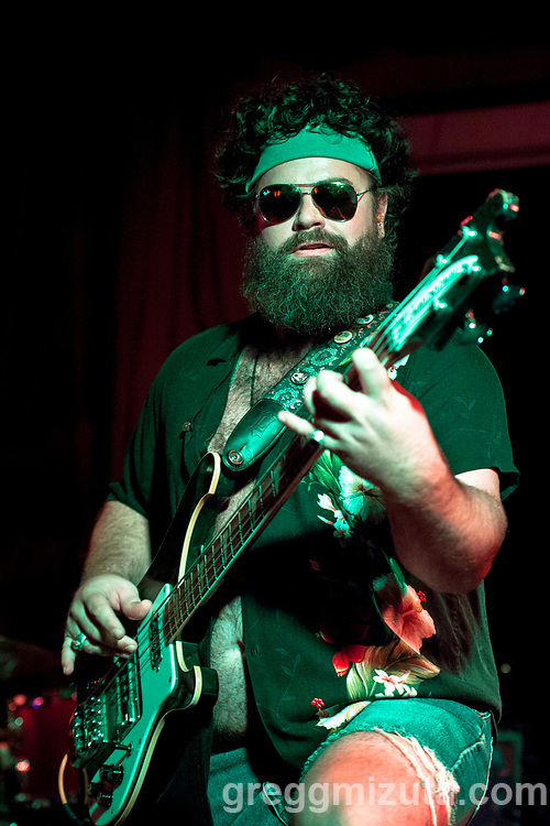 Lounge on Fire's Josh Gilmore performs at the Summer Kick Off concert at The Olympic on June 23, 2018 in Boise, Idaho. The All-local lineup included Marshall Poole, Lounge on Fire, and Gipsy Moonrise.<br /> <br /> Lounge on Fire: Nathan Norton (wah pedal, vox), Josh Gilmore (bass), Matt Patterson (sax), Seth Hoffman (trumpet), Kevan Ash (trombone), Wade Ronsse (drums), Alan Schwaderer (keys). Hometown: Boise, Idaho.