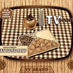 TV dinner tray vintage retro meal aluminium food dish packaging style