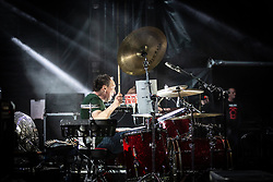 The Proclaimers at Edinburgh Castle 21 July 2019; The Proclaimers play their home town with a live show at Edinburgh Castle. The Proclaimers drummer, Clive Jenner, during his drum solo.<br /> <br /> (c) Chris McCluskie | Edinburgh Elite media