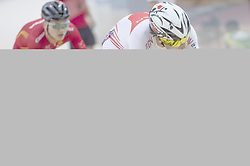 JAKARTA, Jan. 11, 2019  Eiya Hashimoto (R) of Japan compete during the Omnium Men Elite Point Race of 39th Asian Track Championships in Jakarta , Indonesia, Jan. 11, 2019. Eiya Hashimoto of Japan ranked the first with 125 points. (Credit Image: © Veri Sanovri/Xinhua via ZUMA Wire)