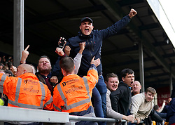 Charlton Athletics fans in the stands during the Sky Bet League One match at the LNER Stadium, Lincoln. Picture date: Saturday October 16, 2021.