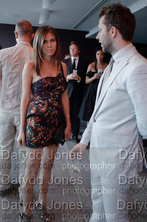 DASHA ZHUKOVA; DEREK BLASBERG;, Dinner hosted by Julia Peyton-Jones and Hans Obrist for the Council of the Serpentine to celebrate: Jeff Koons, Popeye Series. Paramount Club, Paramount Centre Point. London. 30 June 2009