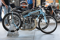 Billy Lane's Crocker on display at the AMCA Sunshine Chapter antique bike show at Destination Daytona during Biketoberfest. Ormond Beach, FL, USA. Thursday October 19, 2017. Photography ©2017 Michael Lichter.