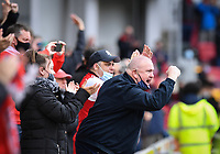 Football - 2020 / 2021 Sky Bet Championship - Semi-final play-offs - Second leg - Brentford vs AFC Bournemouth - Brentford Community Stadium<br /> <br /> Brentford fans in full voice.<br /> <br /> COLORSPORT/ASHLEY WESTERN