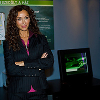 US actress Sofia Milos playing detective Yelina Salas in CSI: Miami visits the CSI exhibition in Budapest, Hungary. Monday, 14. December 2009. ATTILA VOLGYI