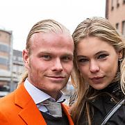 NLD/Den Haag/20180323 - Huldiging Olympische en Paralympische medaillewinnaars, Koen Verweij met zijn vriendin Jutta Leerdam
