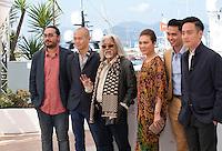 Producers Fran Borgia, Raymond Phathanavirangoon, actors Wan Hanafi Su, Mastura Ahmad, Firdaus Rahman and director Boo Junfeng at the Apprentice<br />  film photo call at the 69th Cannes Film Festival Monday 16th May 2016, Cannes, France. Photography: Doreen Kennedy