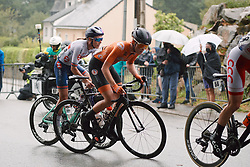 Demi Vollering (NED) at the 2020 UEC Road European Championships - Elite Women Road Race, a 109.2 km road race in Plouay, France on August 27, 2020. Photo by Sean Robinson/velofocus.com