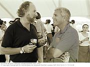 Ed Victor & Larry Gagosian. Bridgehampton Polo. 1995.<br />© Copyright Photograph by Dafydd Jones 66 Stockwell Park Rd. London SW9 0DA Tel 0171 733 0108