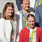NLD/Den Haag/20160824 - Huldiging sporters Rio 2016, Daphne Schippers, Sanne Wevers