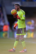goalkeeper David De Gea of Manchester United in action. Barclays Premier League match, Crystal Palace v Manchester Utd at Selhurst Park in London on Saturday 31st October 2015.<br /> pic by John Patrick Fletcher, Andrew Orchard sports photography.