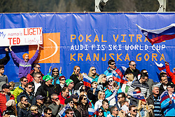 Supporters of LIGETY Ted of USA during Men Giant Slalom race of FIS Alpine Ski World Cup 54th Vitranc Cup 2015, on March 14, 2015 in Kranjska Gora, Slovenia. Photo by Vid Ponikvar / Sportida