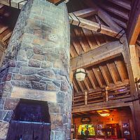 Timberline Lodge at Timberline ski area on Mount Hood in Oregon.