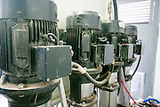 pump room - electrical water pumps at a water treatment plant