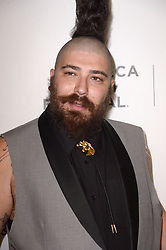 Josh Ostrovsky aka The Fat Jew attending the premiere of the movie American Meme during the 2018 Tribeca Film Festival at Spring Studios in New York City, NY, USA on April 27, 2018. Photo by Julien Reynaud/APS-Medias/ABACAPRESS.COM