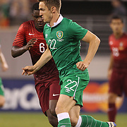 Kevin Doyle, Ireland, in action during the Portugal V Ireland International Friendly match in preparation for the 2014 FIFA World Cup in Brazil. MetLife Stadium, Rutherford, New Jersey, USA. 10th June 2014. Photo Tim Clayton
