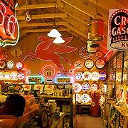 The colorful and kitschy Classical Gas Museum in Embudo, NM, pays tribute to gas stations of the past.