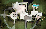 Aerial photograph of the Annenberg Estate in Palm Springs, California.