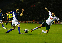 Photo: Steve Bond/Richard Lane Photography. Leicester City v Plymouth Albion. Coca Cola Championship. 21/11/2009. Matty Fryatt (L) turns defender Karl Duguid (R)